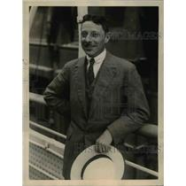 1922 Press Photo Jean V Parmentier, administration of funds in France, who