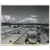 1951 Press Photo View of first 25 fooit wide section of 7800 foot taxi strip