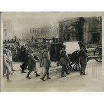 1919 Press Photo General Maurice Sarrail's funeral in Paris.
