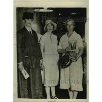 1929 Press Photo Anna Pennypacker, Kate Kelsey, Lena Schwartz, labor activists