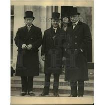 1925 Press Photo Sir Esme Howard, J.A.M. Elder, Earl Page at White House