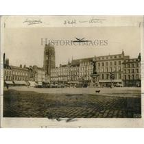 1918 Press Photo Jean-Bart Square in Dunkerque, France