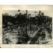 1927 Press Photo Upper Deck on Amphitrite Floating Hotel, Palm Beach Florida