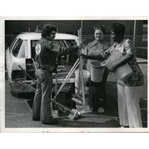 Undated Press Photo Douglas M Lehrman, Red Cross Rep. with Mary Carter and Barbara
