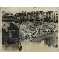 1927 Press Photo Chateau Marne bridge that Germans destroyed