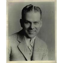 1929 Press Photo Paul Mc Cluer, Announcer of Sunshine Hour