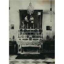 1924 Press Photo Chapel of the Carpenter Shop in Nazareth, the Holyland.