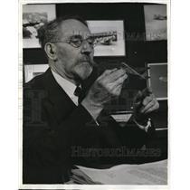 1941 Press Photo Dr. Sanford A. Moss Received 1940 Collier Aviation Award