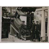 1932 Press Photo British Industries exhibition marine boiler by Babbock & Wilcox