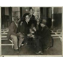 1932 Press Photo Ky miners at relief strike, Luther Williams, M Bailey,W Charles