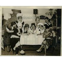 1932 Press Photo various women from around the world