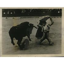 1929 Press Photo Enrique Torres Valencia Spain bull fighter - nes23101