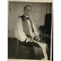 1918 Press Photo Frank Du Moulin, Ohio Bishop