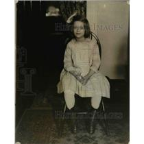 1922 Press Photo Madeline Glass, sister of Jimmie Glass