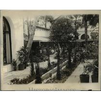 1928 Press Photo Patio Lamaze, Society Meeting Place, Palm Beach Florida