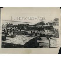1928 Press Photo Cortino Nicaragua wharves where Pres Hoover will dock