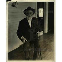 1923 Press Photo General Byron R Pierce at Reeds Lake sanatorium