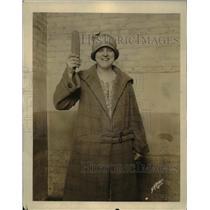 1925 Press Photo Elsie M. Pulaska, Winner America's Best Ear Seed Corn, Chicago