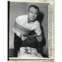 1966 Press Photo NYC Roy McMillan NY Mets shortstop injured - nes22390