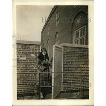 1925 Vintage Photo Girl Standing on Roof Famous Hotel Sherman Chicago