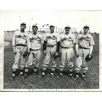 1935 Photo H Pippen R Ward R Harrell E Heusser M Copeland SL Cardinals