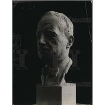 1919 Press Photo Bust Of Tardieu Statue