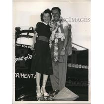 1948 Press Photo Cleveland Ohio Robert Eucker winner of the Sohio Handcap Trophy