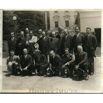 1930 Press Photo The European journalists received by President Hoover