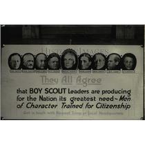 1923 Press Photo Boy Scouts leaders.