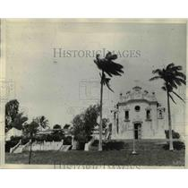1929 Press Photo Fernando Norenha Island in South Pacific local church