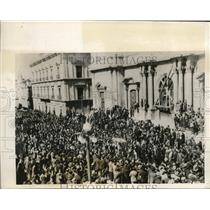 1930 Press Photo Funeral of Cadet Chavez and Barron Y Morales of Bolivia