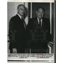 1967 Press Photo Bing Devine and John Holland Head To Baseball League Meeting