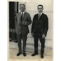 1923 Press Photo Wash DCMaj MJ Shields & Dr WA Redel American red Cross