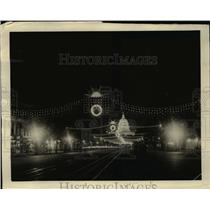 1923 Press Photo US Capitol with Shriners convention lights on Penn. Avenue