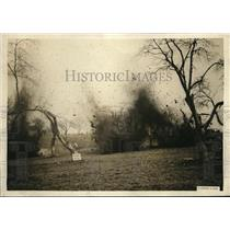 1923 Press Photo War explosives used to remove stumps and rocks on farms, the