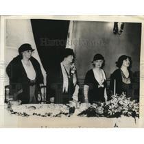 1932 Press Photo Mrs N Thayer, Mrs F Batchelder, D Gann, and E.F. Schofield