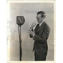 1933 Press Photo Billy Repaid, Rapid Fire Announcer,Detroit News Broadcaster