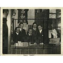 1920 Press Photo Attorney M.H. Delagi, R.R. McElvare, Loo Fock, J.W. McConaughy