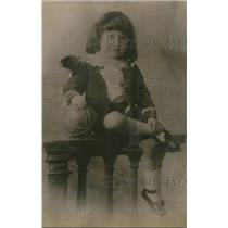 1921 Press Photo Jack O'Brien at age of 6 in Paris in 1876 at baby show contest