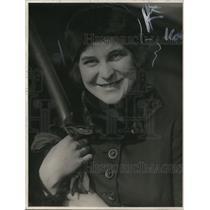 1919 Press Photo Helene Baldwin, Far East Standard Oil Traveler on S.S. China