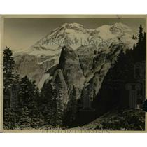 1925 Press Photo View of Mountain Over North Puyallup Canyon Klapatche Park