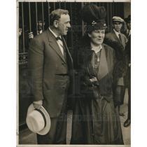 1916 Press Photo J. Daniels & Wife