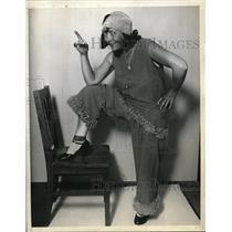1938 Press Photo Jeanne La Marr, Self-Styled Former Women's Boxing World Champ