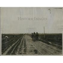 1921 Press Photo Scene on the main Pinsk-Minsk-Vilna Road