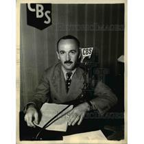 1936 Press Photo Percy Winner American Journalist