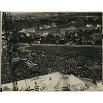1923 Press Photo Air view of Washington Memorial cornerstone laid