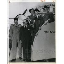 1945 Press Photo Members of the French diplomatic mission