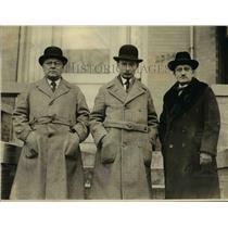 1923 Press Photo Gustav Kempel & Villem Ernits w/ Mr Saya in Washington