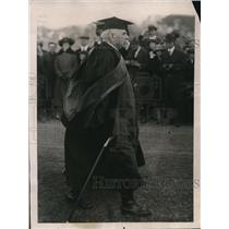 1922 Press Photo Marshal Joffre at Grant Memorial Ceremony, New York University