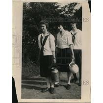 1920 Press Photo Kansas City Kansas girls at YMCA industy camp